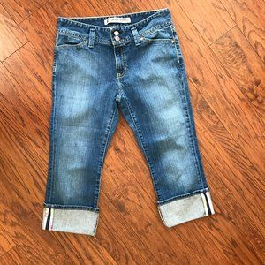 GAP low rise cropped jeans size 8